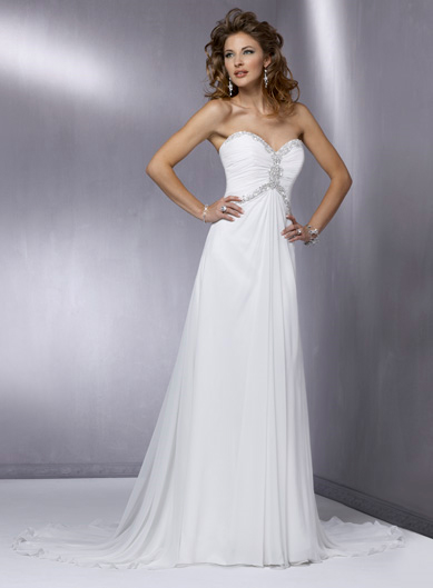 2 Chiffon Wedding Dresses Are Also Comfortable For Brides Silk Has A Light Weight And Airy Structure Unique Features Of Make It Cool When